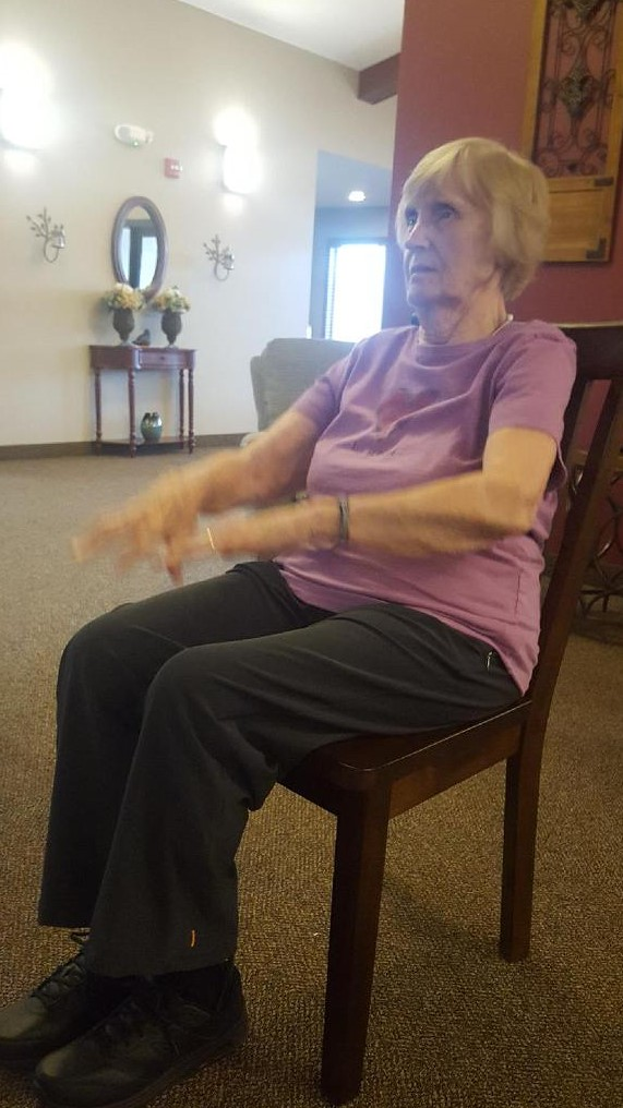 Exercising at Serenity Village in Avon MN